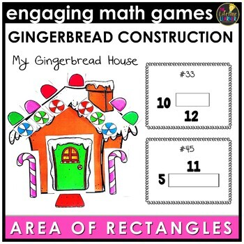 Christmas Area of Rectangles Game
