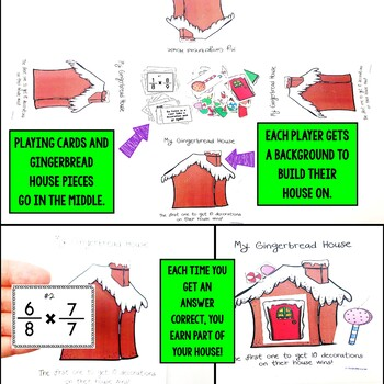 Christmas Multiplying Fractions Game
