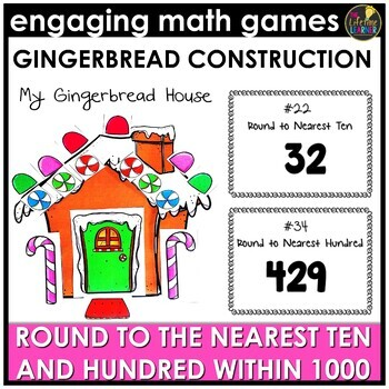 Christmas Round to the Nearest Ten and Hundred Within 1000 Game
