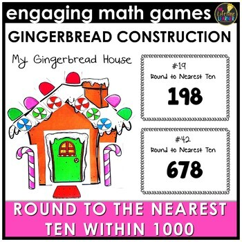 Christmas Rounding Numbers to Nearest Ten Within 1000 Game
