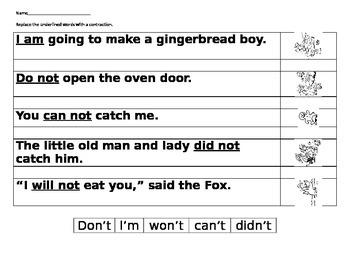 Gingerbread Contractions