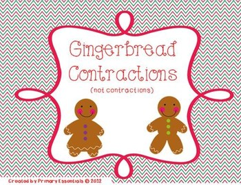 Gingerbread Contractions {FREE}