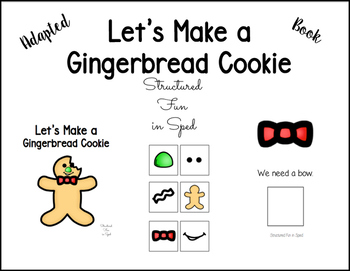 Gingerbread Cookie Adapted Book