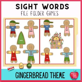 Gingerbread Cookie Adventures High Frequency Dolch Word Fi