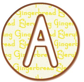 Gingerbread 'Cookie' Alphabet