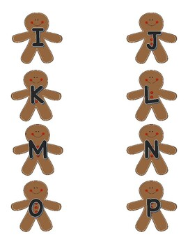Gingerbread Cookie Alphabet, Shape, and Color Match