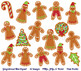 Gingerbread Cookie Clipart, Gingerbread Man Clip Art, Christmas Gingerbread