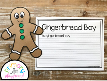 Gingerbread Cookie Craft With Writing Prompts/Pages