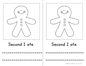 Gingerbread Cookie Interactive Book (Spanish and English)