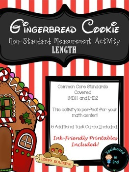 Gingerbread Cookie Non-Standard Measurement Hands On Activity