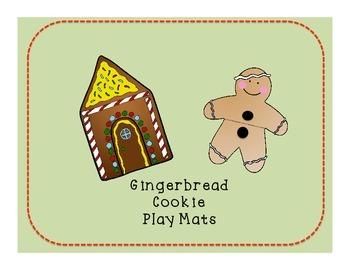Gingerbread Cookie Play Dough Mat