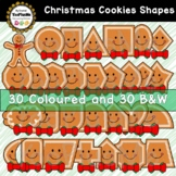 Gingerbread Cookie Shapes (2D) Christmas Clip Art