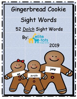 Gingerbread Cookie Sight Words