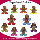 Gingerbread Cookies Clip Art by Jeanette Baker