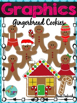 Gingerbread Cookies Digital Clip Art