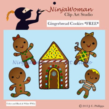 Gingerbread Cookies FREE Clip Art