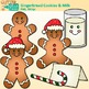 Gingerbread Man Clip Art {Christmas Activities & Scrapbook