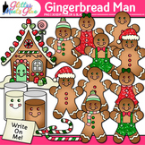 Gingerbread Man Clip Art {Christmas Activities & Scrapbook