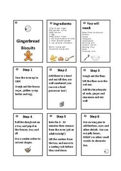 Gingerbread Cookies Recipe Cards