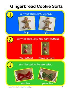 Gingerbread Cookies Sort, Pattern, Graph