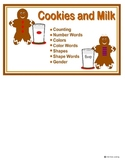 Gingerbread Cookies and Milk File Folder Games