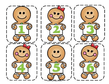 Gingerbread Cooking Counting- Number Ordering for Primary