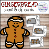 Gingerbread Count & Clip Cards - Preschool Christmas