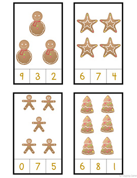 Gingerbread Count and Clip Cards