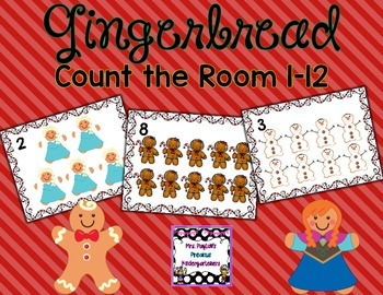 Gingerbread Count the Room 1-12