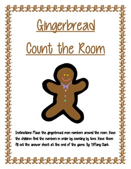Gingerbread Math Count the Room Game