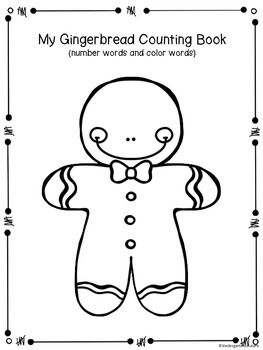 Gingerbread Counting Book - number and color words