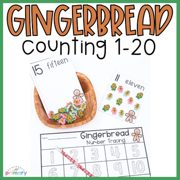 Gingerbread Counting Cards   1-20