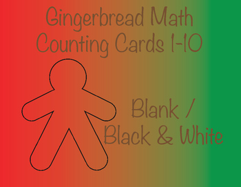 Gingerbread Counting Cards * Black and White
