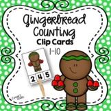 Gingerbread Counting Clip Cards 1-10