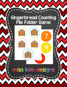 Gingerbread Counting File Folder Game for Early Childhood Special Education