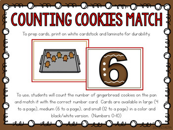 Gingerbread Counting Math Activities