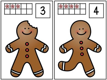 Gingerbread Counting Mats 1-20