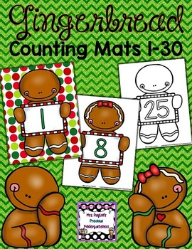 Gingerbread Counting Mats 1-30
