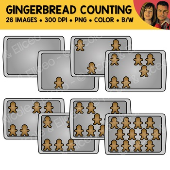 Gingerbread Counting Scene Clipart