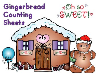 Gingerbread Counting Sheets