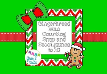 Gingerbread Counting Snap & Scoot 1-10 {year2tastic}