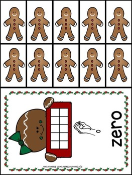 Gingerbread Counting With Sign Language (0-10)