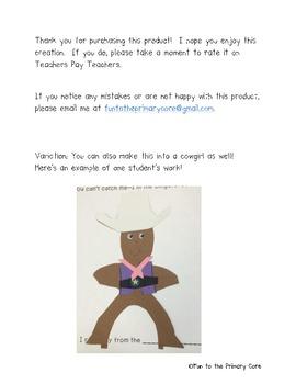 Gingerbread Cowboy Craftivity