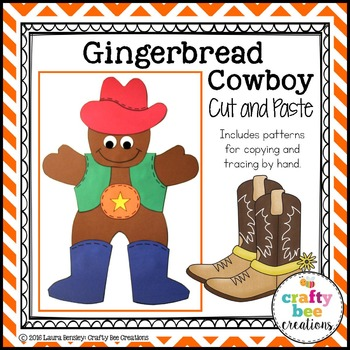 Gingerbread Cowboy Cut and Paste