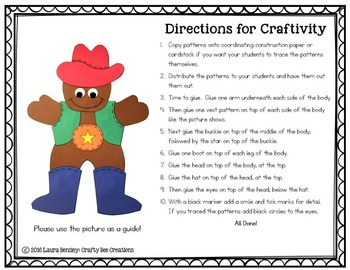 Gingerbread Craft {Gingerbread Cowboy}