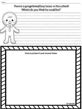 Gingerbread Man Craft  plus Writing Pages & Wristbands  (First Grade)