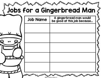 Gingerbread Man Writing Craft Activities