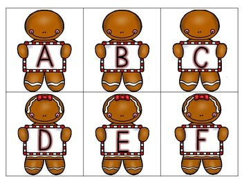 Gingerbread Crunch Letter ID Game