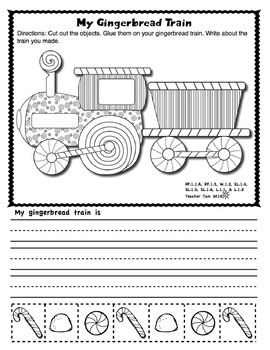 Gingerbread Man Activities Math and Literacy for First Grade