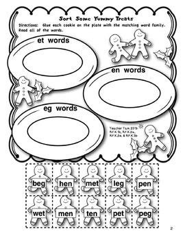 Gingerbread Man Activities Kindergarten Math and Literacy Worksheets